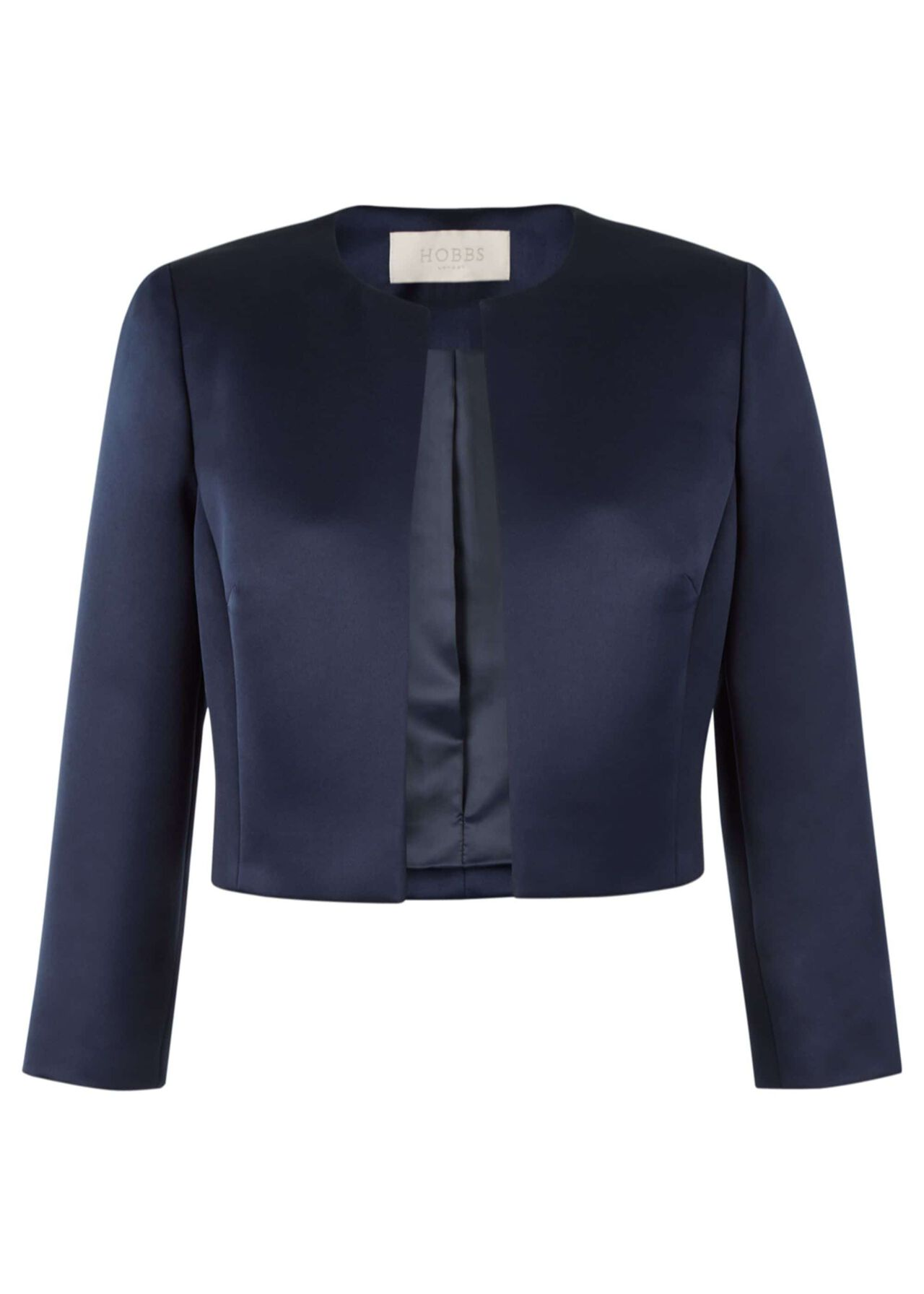 Elize Satin Jacket Navy