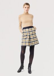 Genevieve Wool Skirt, Bamboo Multi, hi-res