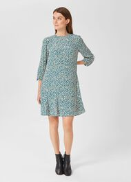 Prim Tunic Dress, Blue Multi, hi-res