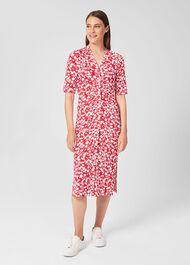 Hatty Dress, Red Ivory, hi-res