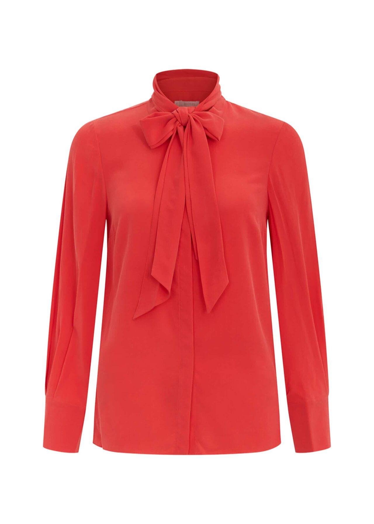 Beatrice Silk Top Red