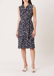 Laurena Dress, Navy Ivory, hi-res
