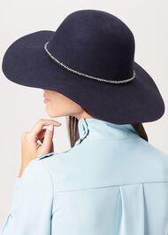 Rosie Wool Hat, Navy, hi-res