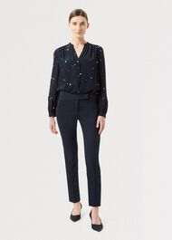 Petite Annie Slim trousers With Stretch, Navy, hi-res