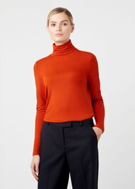 Mischa Roll Neck, Dark Orange, hi-res