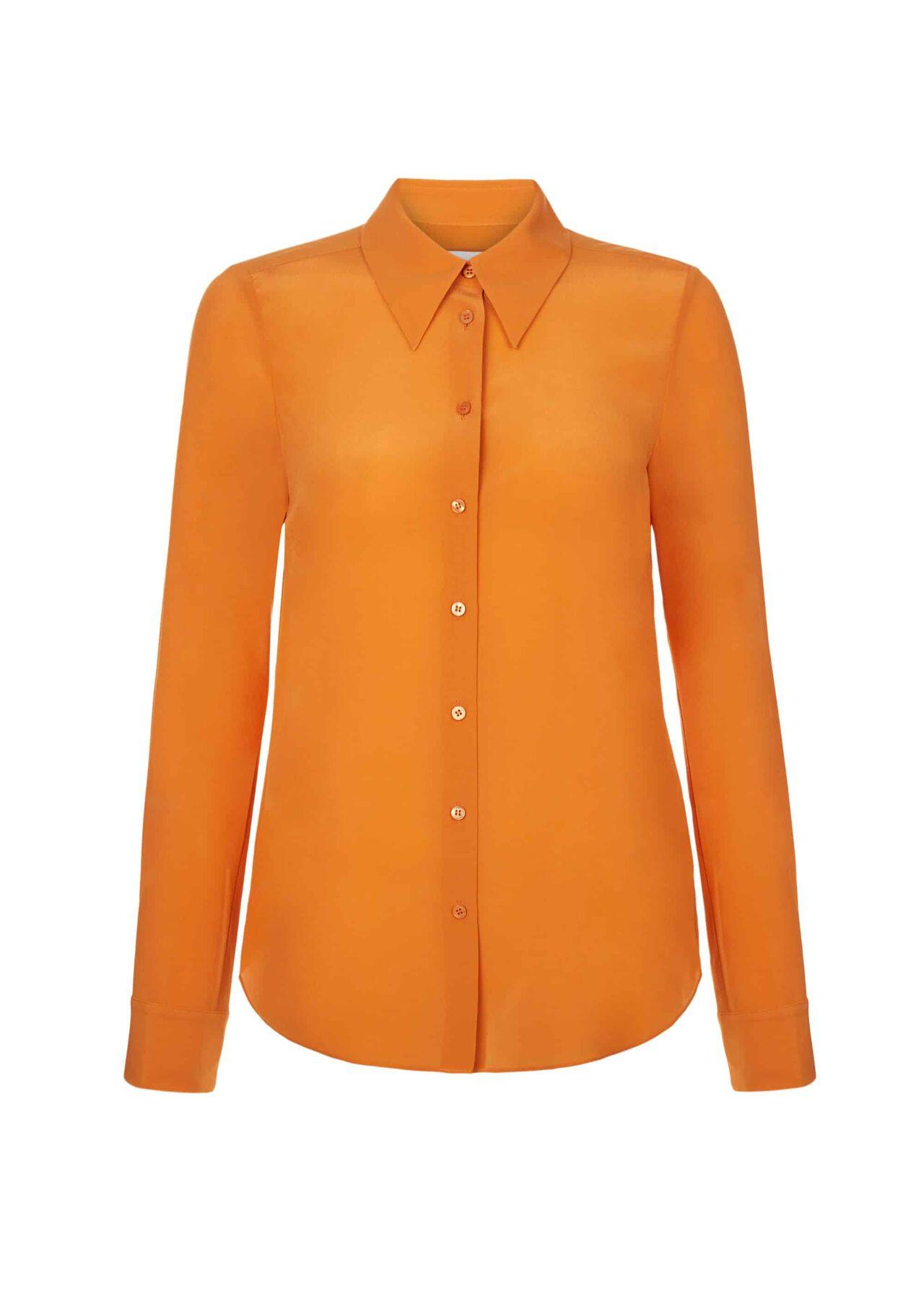 Athena Silk Blouse Orange