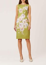 Moira Dress, Chartreuse Mlt, hi-res