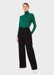 Mischa Roll Neck Sweater, Emerald Green, hi-res