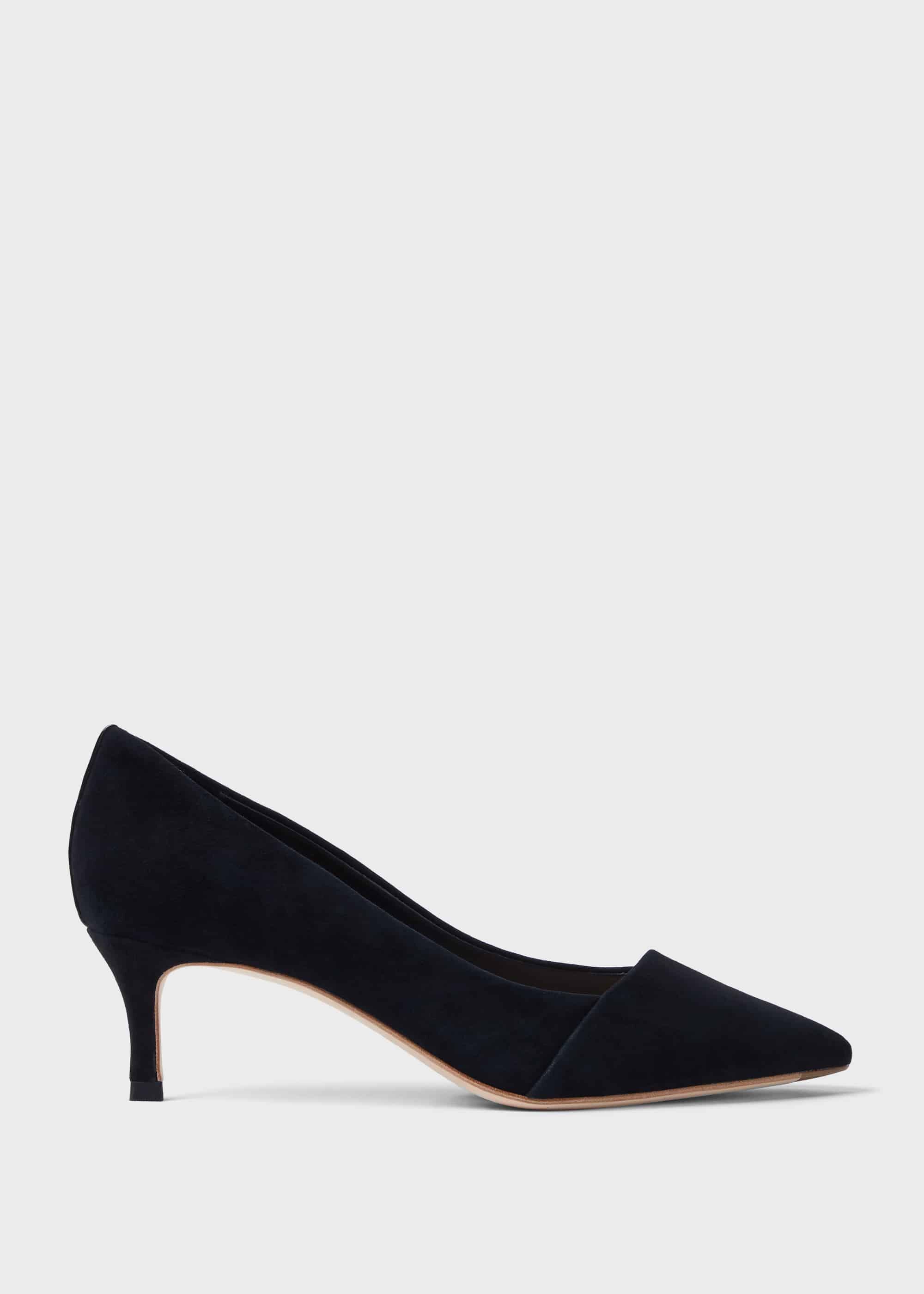 Clara Suede Stiletto Court Shoes | Hobbs