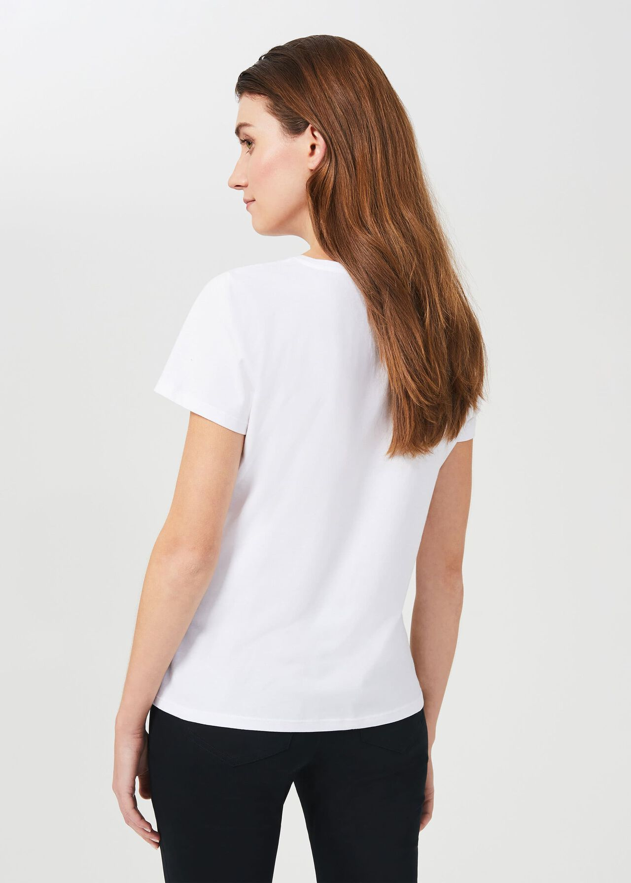Pixie Cotton T-Shirt, White, hi-res