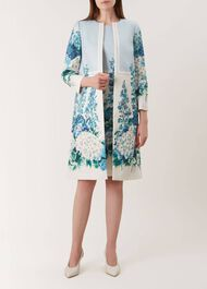 Hydrangea Coat, Blue Multi, hi-res