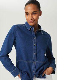 Mireya Denim Shirt, Mid Wash, hi-res