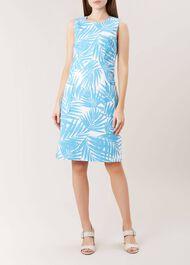 Allison Dress, Bright Aqua, hi-res