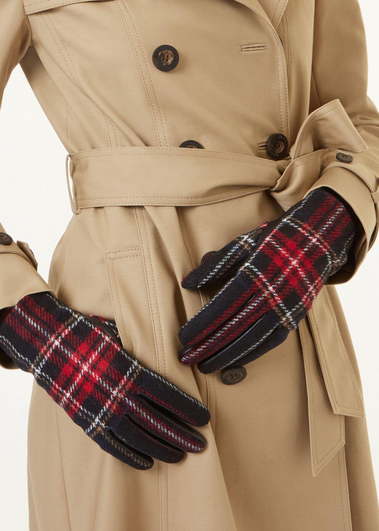 Emma Glove, Red Check, hi-res