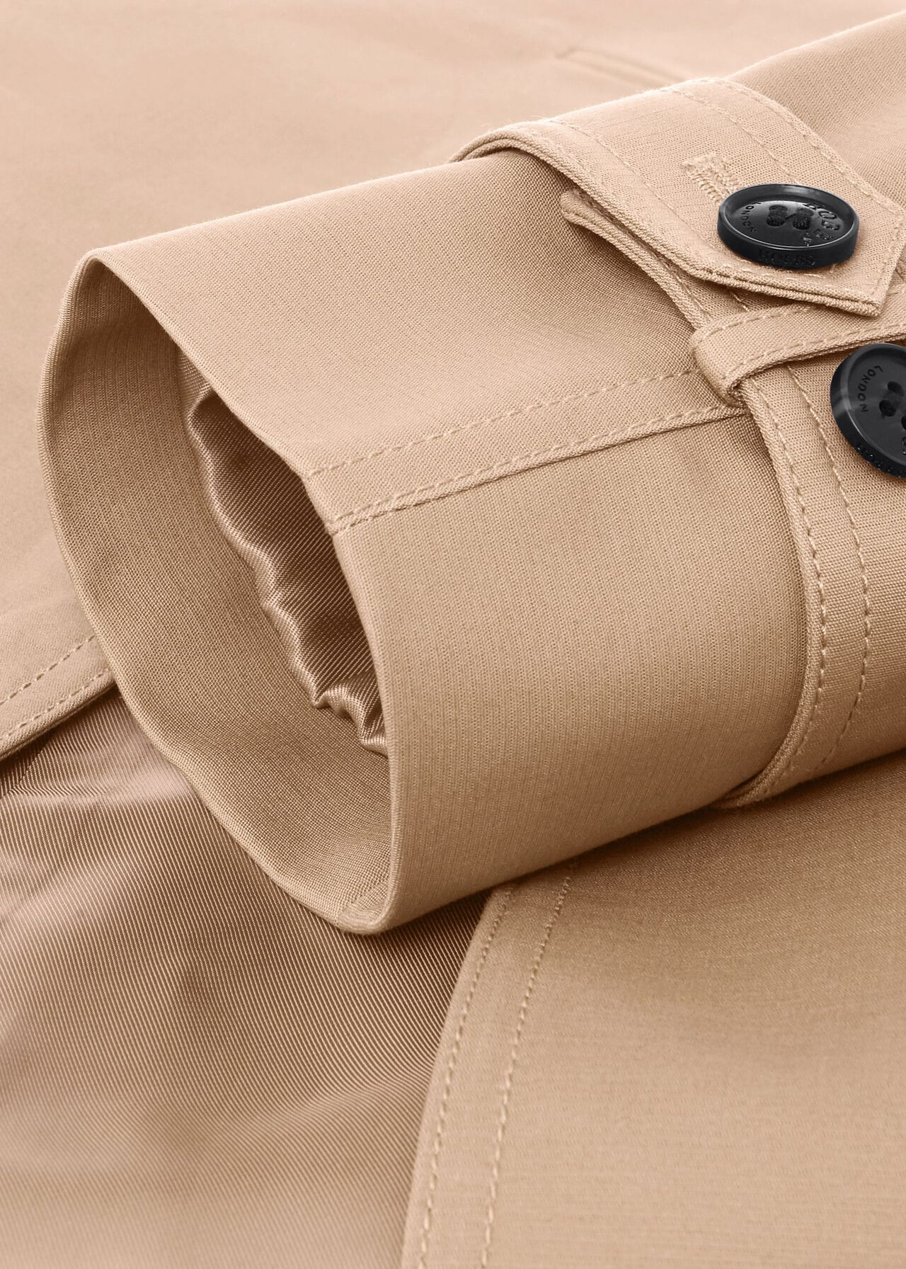 Petite Saskia Water Resistant Trench Coat, Tan, hi-res