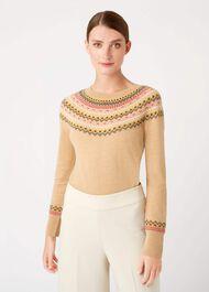 Greta Sweater, Camel Multi, hi-res