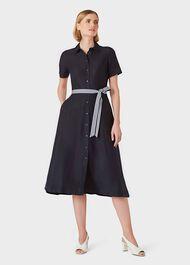 Rosaleen Midi Dress, Navy, hi-res