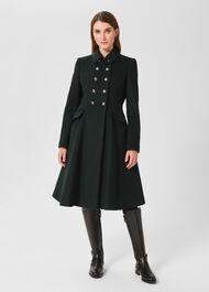 Francesca Wool Blend Coat, Forest Green, hi-res