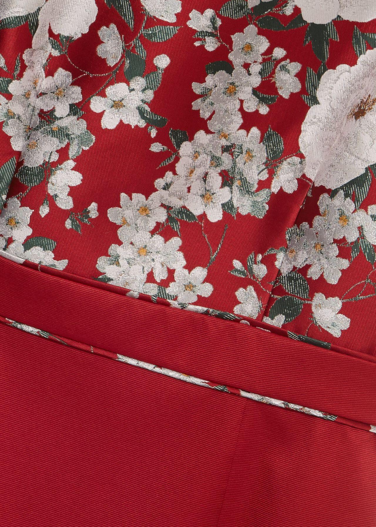 Dora Jacquard Shift Dress, Red Multi, hi-res