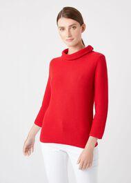 Camilla Sweater, Red, hi-res