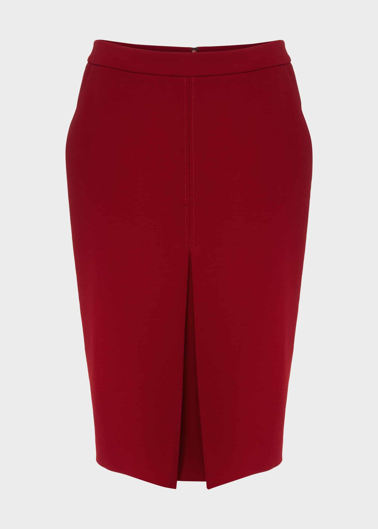 Lucille Pencil Skirt With Stretch Red