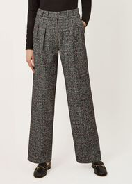 Lorelai Trousers, Ivory Black Red, hi-res