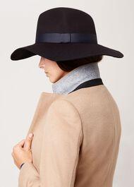 Phoebe Wool Hat, Navy, hi-res