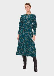 Angela Dress, Leaf Green Mul, hi-res