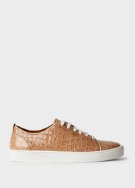 Lilian Crocodile Trainers, Blush, hi-res