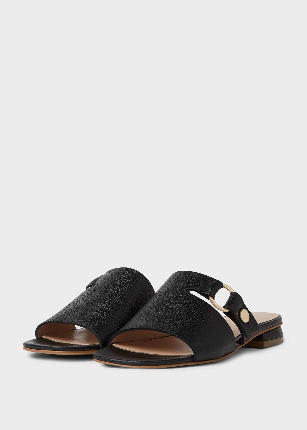 Lily Leather Sandals Black