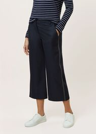 Callie Crop Trouser, Navy, hi-res