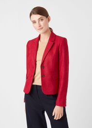 Hackness Wool Jacket, Berry, hi-res