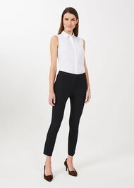 Hailey Slim Trousers With Stretch, Black, hi-res