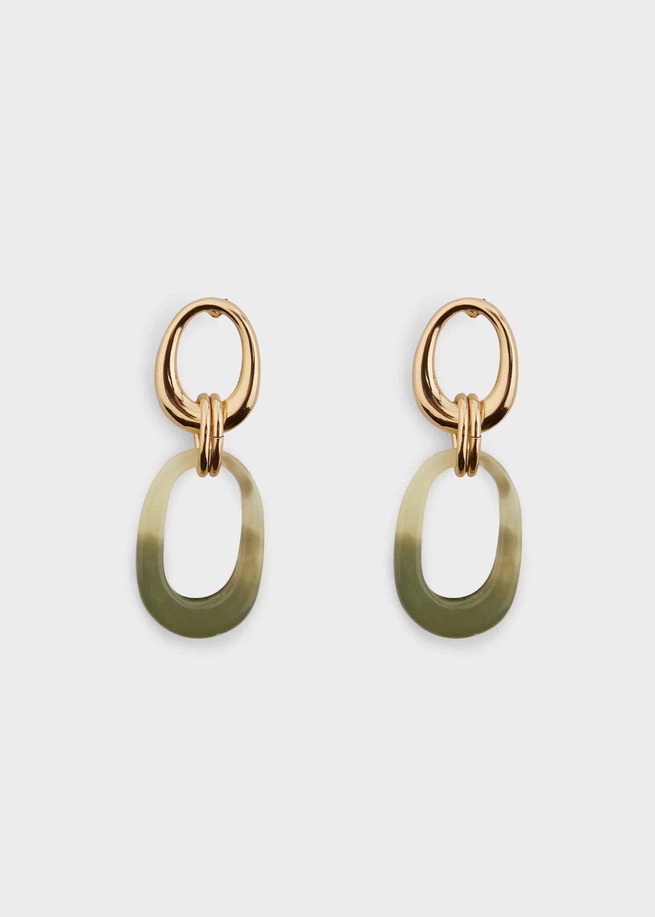 Molly Earring, Green Gold, hi-res