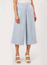 Layla Linen Blend trousers, Mist Blue, hi-res