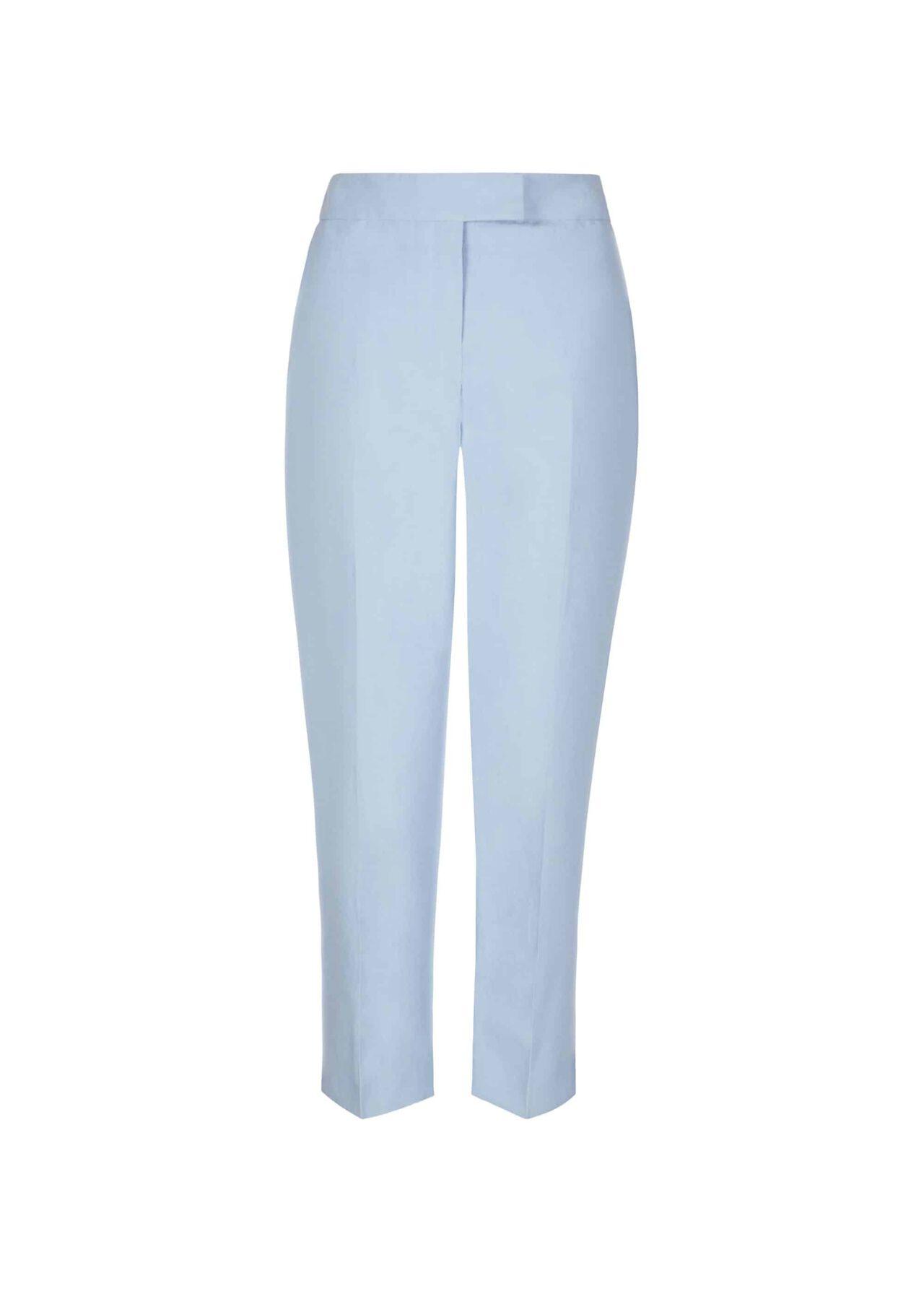 Jade Silk Blend Trousers Mist Blue