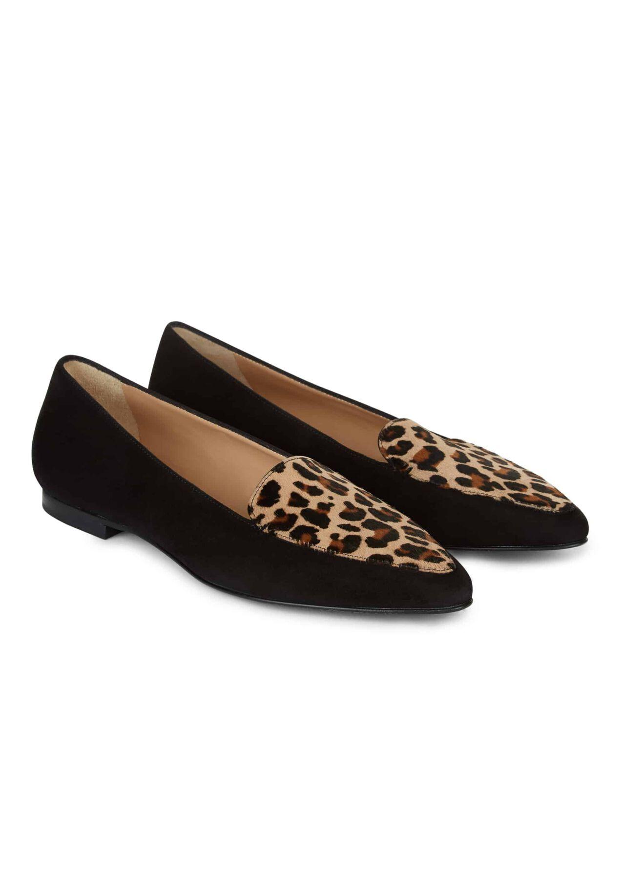 Ella Flat Black Leopard