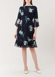 Adriana Dress, Navy Multi, hi-res