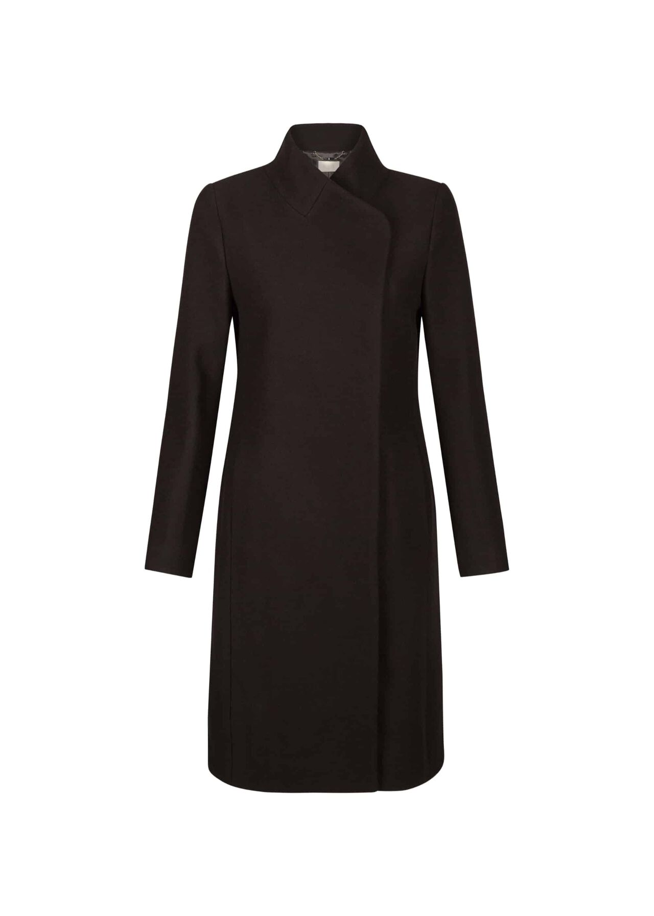 Romy Wool Blend Coat Black