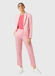 Trent Linen trousers, Pink, hi-res