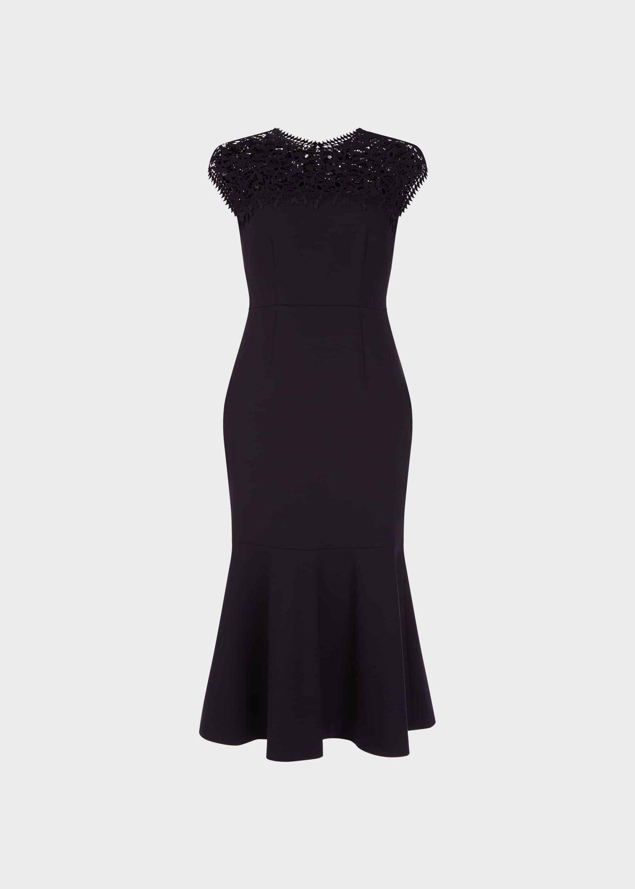 Cecilia Lace Dress Navy