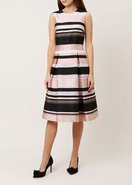 Bridgette Stripe Dress, Pink Multi, hi-res