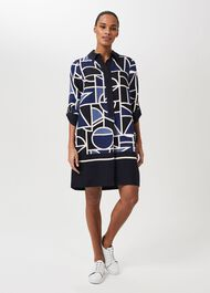 Marci Tunic Dress, Blue Multi, hi-res