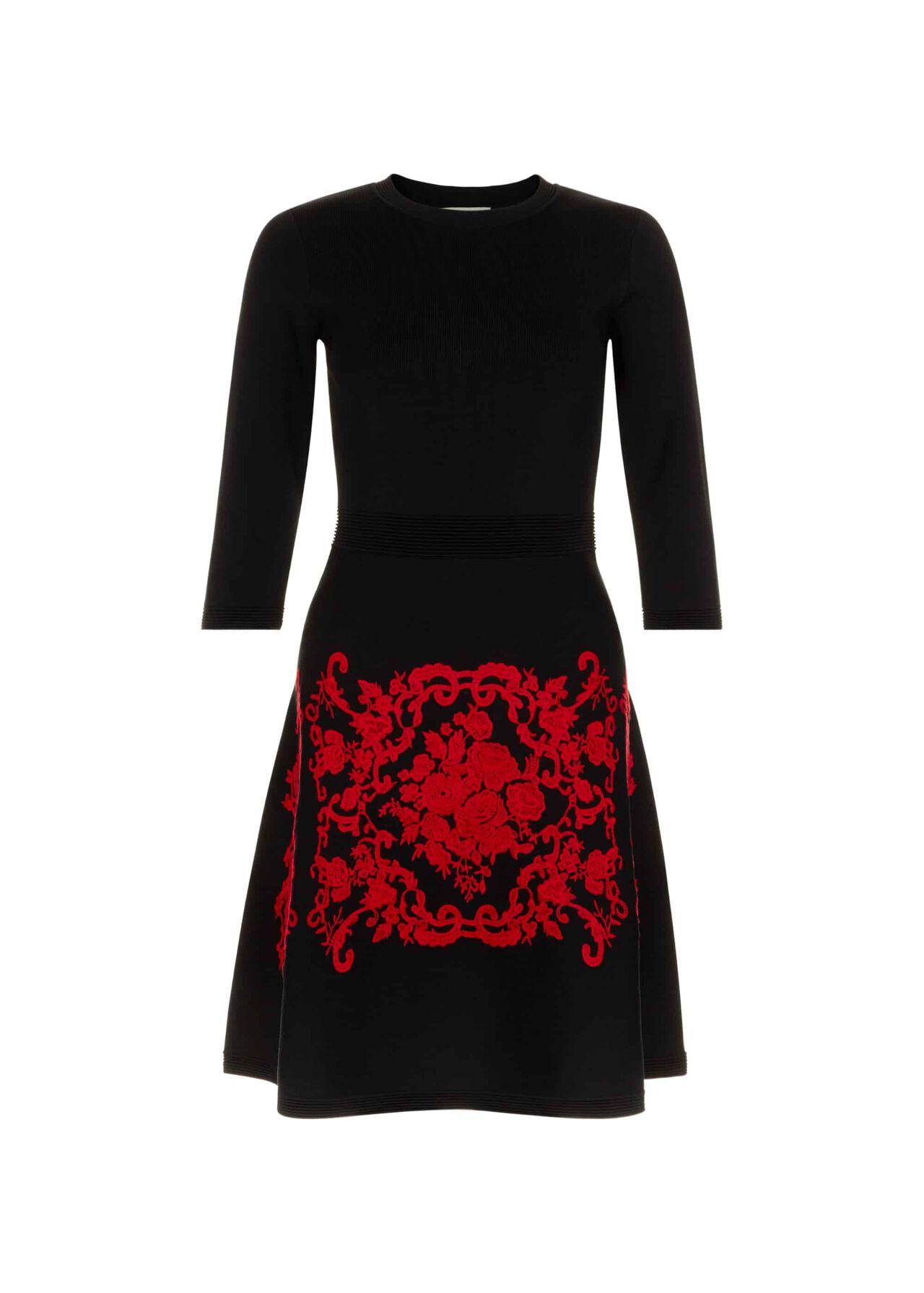 Aliza Dress Black Red
