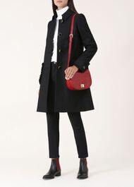 Ophelia Wool Blend Coat, Black, hi-res