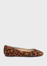 Jemma Animal Print Ballerinas , Leopard, hi-res
