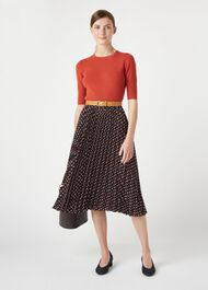 Rosalind Skirt, Navy Multi, hi-res