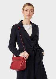 Hadley Leather Cross Body Bag , Dark Cherry, hi-res