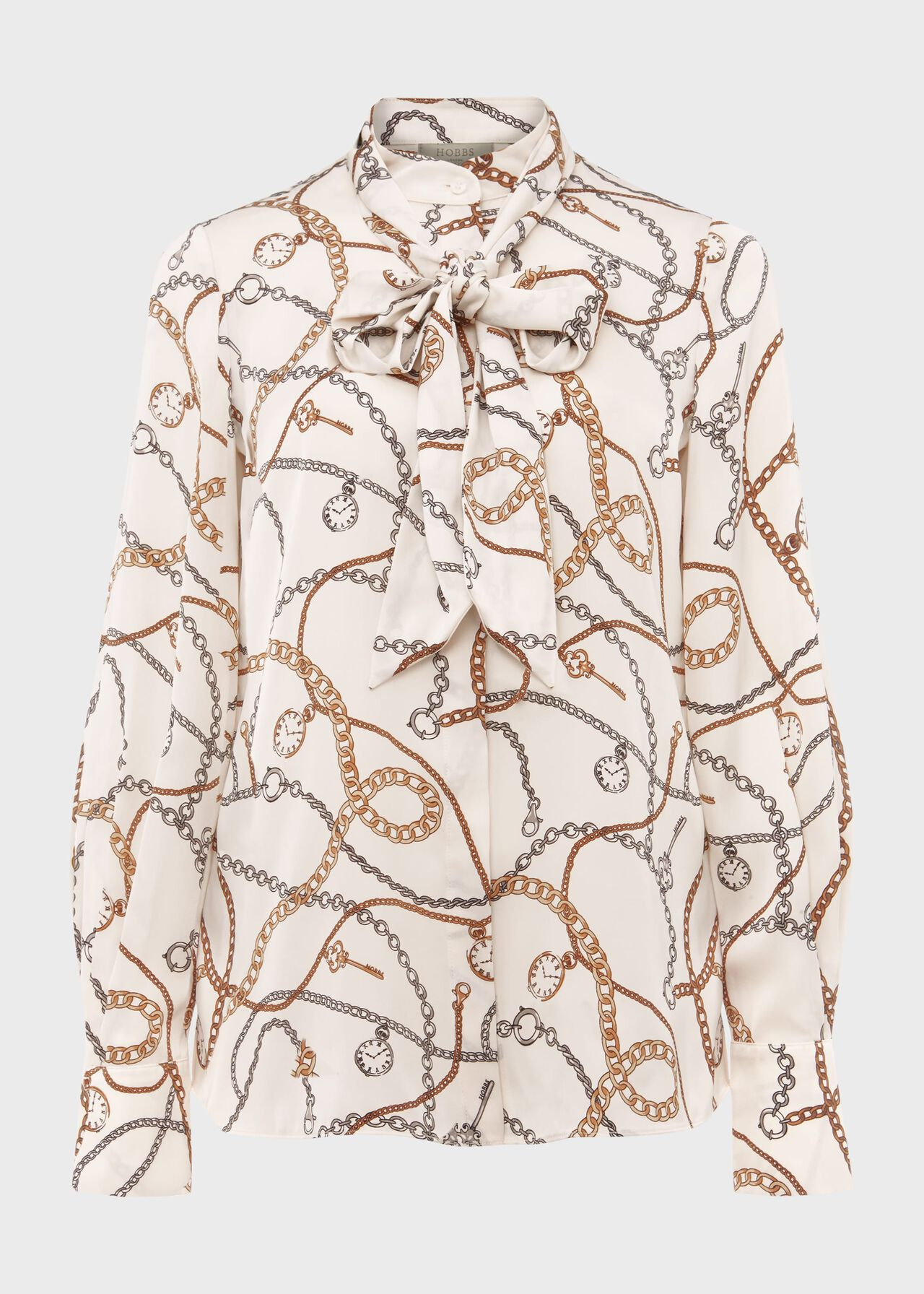Beatrice Printed Blouse Ivory Multi