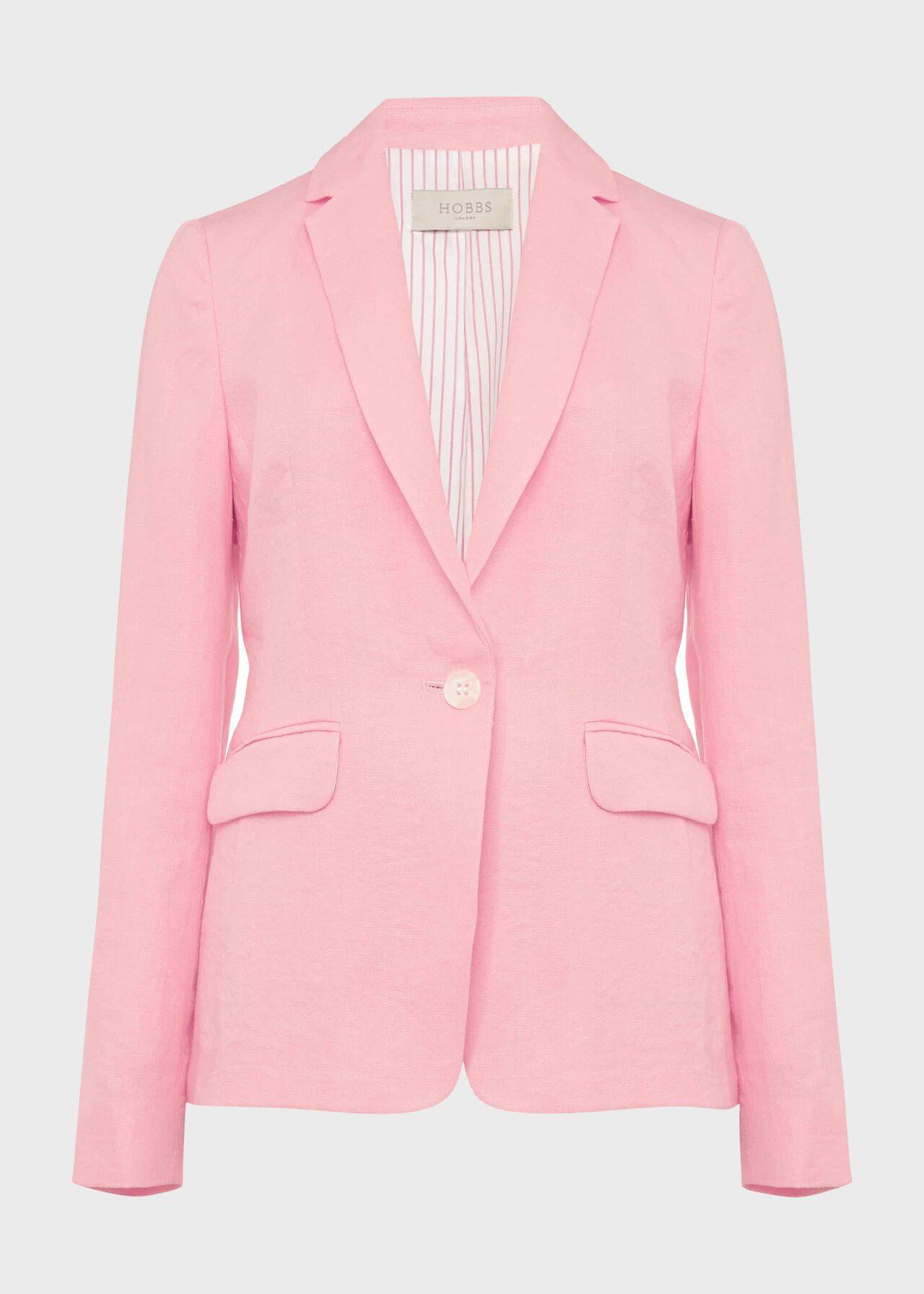 Trent Linen Jacket Pink